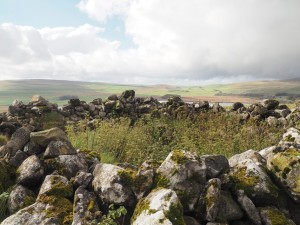 The ancient cairn on the top of Great Close Hill