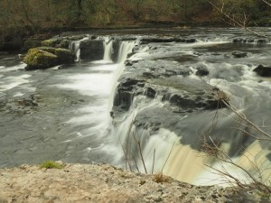 Another view of the upper falls at Aysgarth