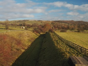 Passing over the old Wensleydale railway