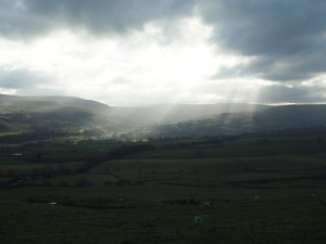 Shafts of light over Bishopdale