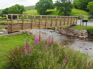 The new footbridge over Barbon Beck