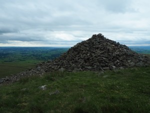 The large cairn on Brownthwaite Pike
