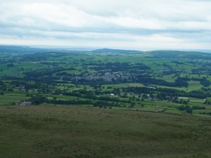 Kirkby Lonsdale from Brownthwaite Pike