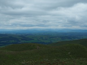 Looking towards the Lake District from Hoggs Hill