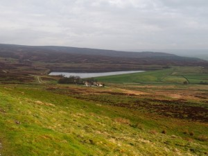 Looking down on Lower Barden Reservoir
