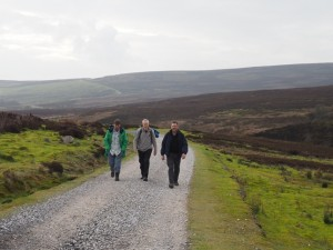 David, Mick and Tony on the path to the upper reservoir