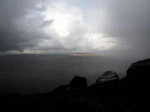 The view from Watt Crag in between the downpours