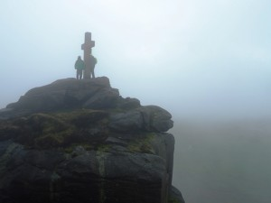 David and Mick by the Rylstone Cross