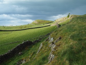 Looking along Little Longrigg Scar to the top of Long Rigg