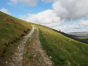 The track climbing up the fell side