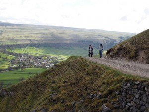 A bend in the track with Kettlewell beyond