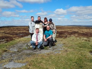 Group shot by the Firth Fell trig point
