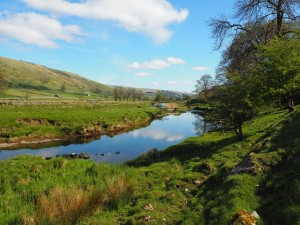 Looking down the River Wharfe