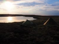 Our tents pitched alongside Birks Tarn