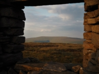 Buckden Pike from the small ruined hut on the ridge wall