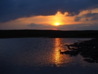 Sunset over Birks Tarn