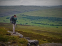 Chris enjoying the views of Littondale as we begin our return to the valley