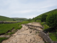 The River Skirfare at Litton was bone dry