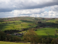 Looking across the valley towards Coldstones and Greenhow Hill