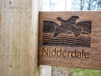 Detail from a Nidderdale AONB footpath sign