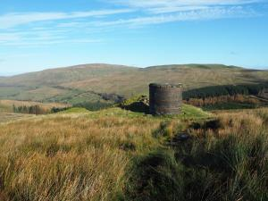 The final air shaft, overlooking the head of Dentdale
