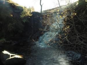 The lower section of the falls at Dent Head