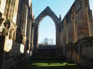 Inside the priory ruins