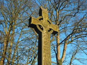 A stone cross in the priory cemetary