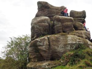 With Rhanny on one of the Druid's Castle Rocks