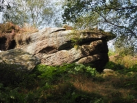 One of the first gritstone outcrops on the route