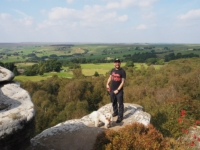 With Barry on another crag