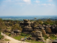 Looking out over the busiest area of Brimham Rocks