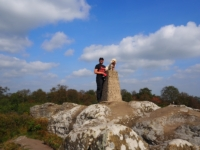 With Barry on the trig point