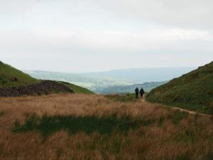 Following the bridleway above How Gill