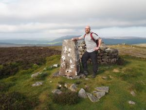By the Halton Height trig point above High Crag