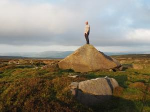 On the summit rock of Brown Bank