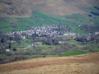 Looking down at Sedbergh