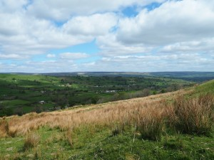 Looking back to Thoralby and Bishopdale