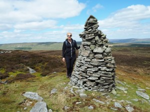 Cath by the large cairn on Wasset Fell