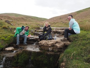 Having rest alongside Deepdale Gill