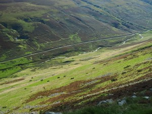 Looking down over Barbondale