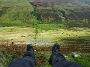 My lunch spot high above Barbondale