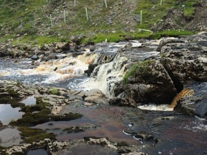 A small waterfall on Oughtershaw Beck