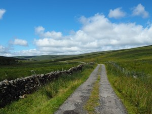 The track leading up the Oughtershaw Valley
