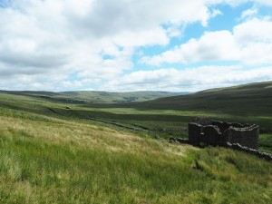 The Oughtershaw valley and Breadpiece Barn