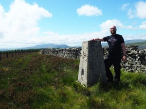 By the Low Green Field Lings trig point