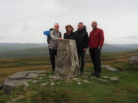 Alongside the Conistone Moor trig point