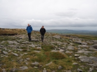 Mick and Tony on the rocky path towards Langcliffe