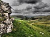A 'dramatic tone' shot of Wharfedale from Conistone Pie