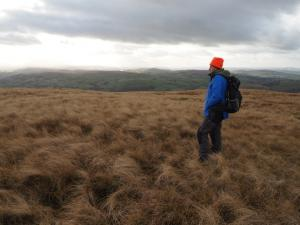 Wally on the unmarked top of Linghaw